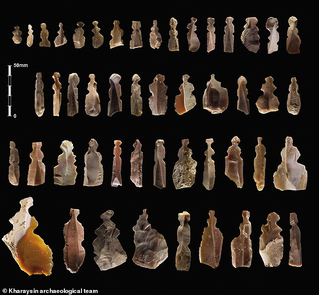 Archaeologists working in Jordan discovered a series of flint artefacts that look like stone tools - but they were never used and could have been funeral figurines