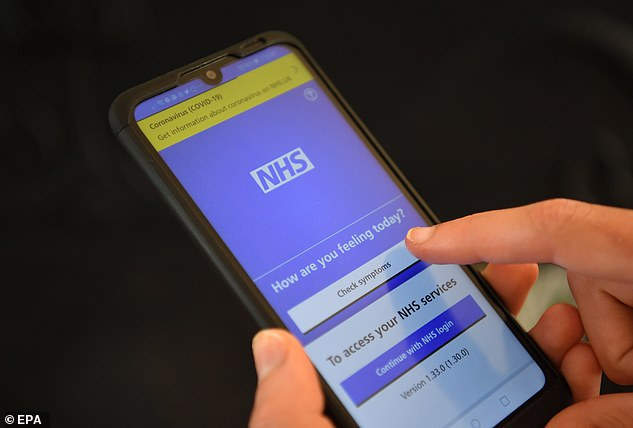 Officials in the UK abandoned the NHS's attempt at making its own app in June when they realised it didn't work on iPhones (Pictured: The app in development stages)