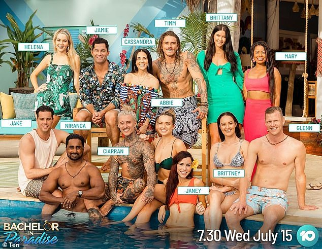 Schedule: While an exact air date hasn't been confirmed, it's expected the show will launch at the end of the August, after Bachelor in Paradise season three has finished its run. Pictured: the cast of Bachelor in Paradise