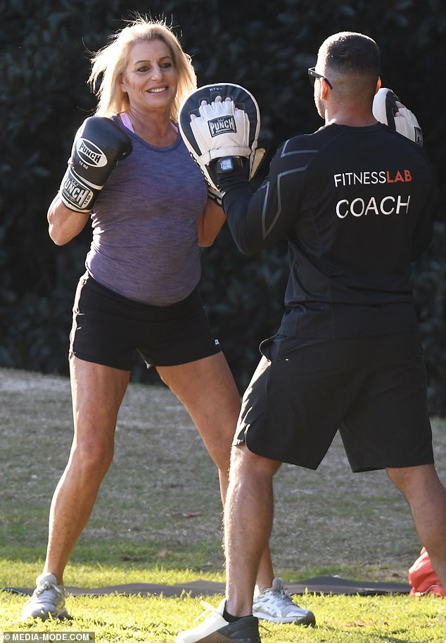 Positive outlook:'I was quite happy to say I went against an AFL player (Daniel Gorringe) and an Olympian (Sophie Budack) and beat them, I was happy with where I came,' she said