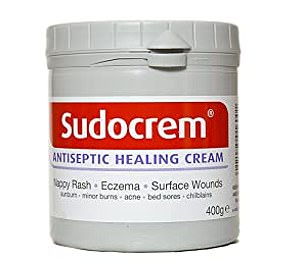 An antiseptic healing cream, Sudocrem¿s main ingredients are zinc oxide, anhydrous hypoallergenic lanolin, benzyl benzoate and benzyl alcohol ¿ and these ingredients help it tackle spots