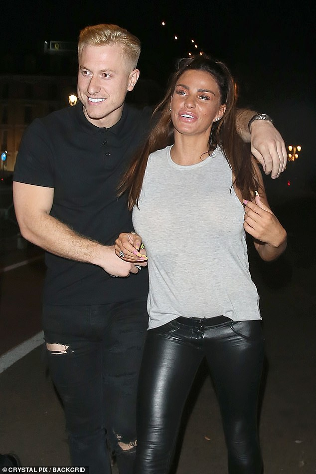Old times: Katie is moving on following her split with former fiancé Kris Boyson (pictured)