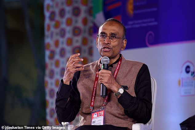 Venki Ramakrishnan, pictured, called for face coverings to be worn in all indoor public spaces where socially distancing is difficult, and not just on transport, as has been mandatory for more than three weeks