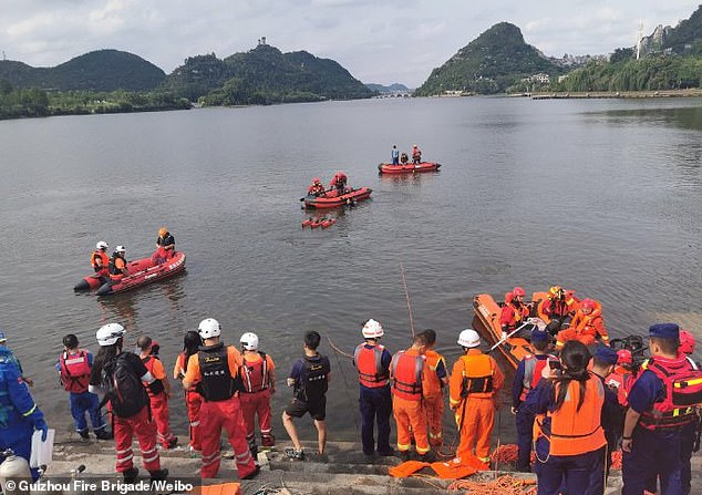 At least two people have died and 16 are being treated at a hospital after the incident which took place at around 12pm local time Tuesday in Guizhou province's Anshun, southwest China