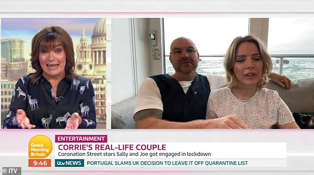 'We were friends for a while but started sharing puddings':Actress Sally, 39, discussed their transition from co-stars to fiancé and fiancée