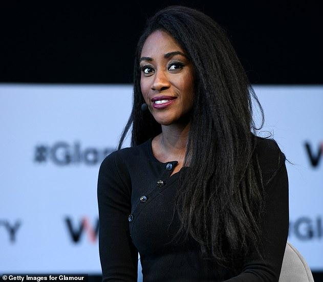 After widespread outrage, Attiah deleted her tweet from June 28 - but she appeared to insinuate that it was not because she regretted her remarks with further posts. She is pictured speaking on stage at Glamour magazine's 2018 Women Of The Year Summit