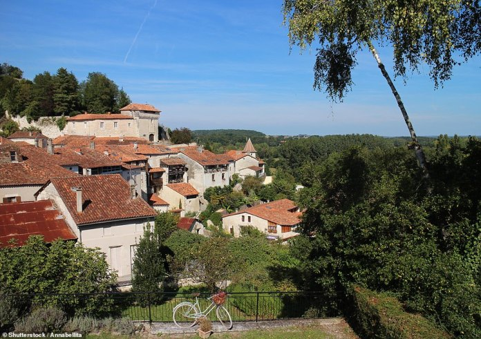 11 - Aubeterre-sur-Dronne in the south-west of New Aquitaine. It has a population of only 386. The show says that the
