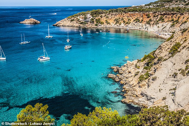 Governors responsible for the Balearic Islands confirmed they were tightening the rules hours after Catalonia became the first Spanish region since the end of the country's state of emergency to make them obligatory at virtually all times in public. Pictured: Ibiza