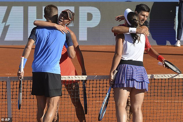 Djokovic recently tested positive for Covid-19 after some of his fellow players did too while playing on his disastrous Adria Tour, where they ignored social distancing guidelines