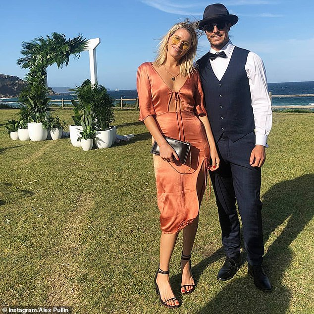 Shattered girlfriend of snowboarder Alex 'Chumpy' Pullin (pictured together) watched as lifeguards and paramedics scrambled to save a man in the water