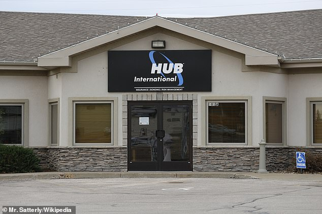 A spokesman for Hub International said: 'While we can't comment on pending litigation, Hub is proud to have successfully transitioned 90 percent of its 12,000-plus employees to working remotely from home throughout the Covid-19 pandemic'