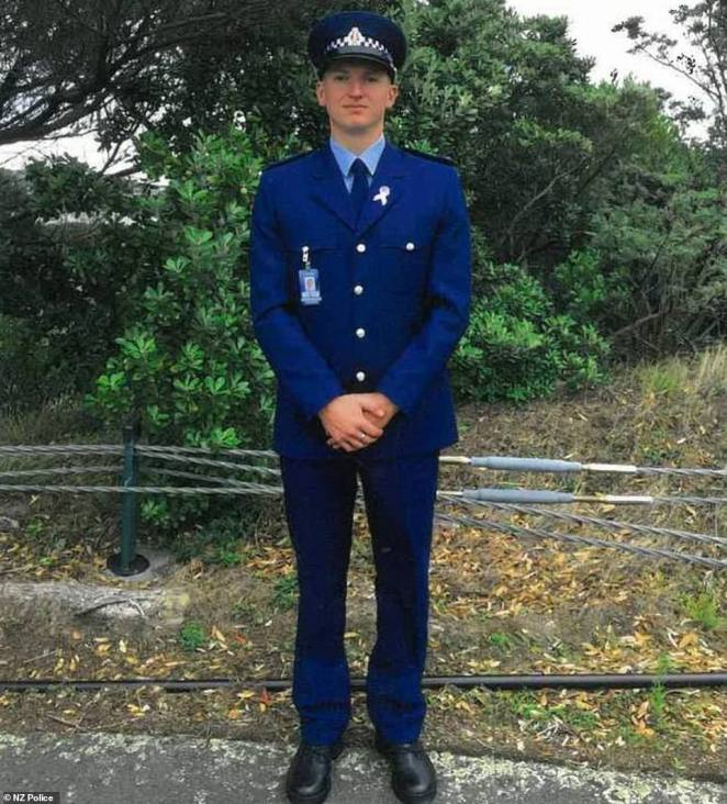 New Zealand Police officer Constable Matthew Hunt (pictured) was killed by a gunman in Auckland last month