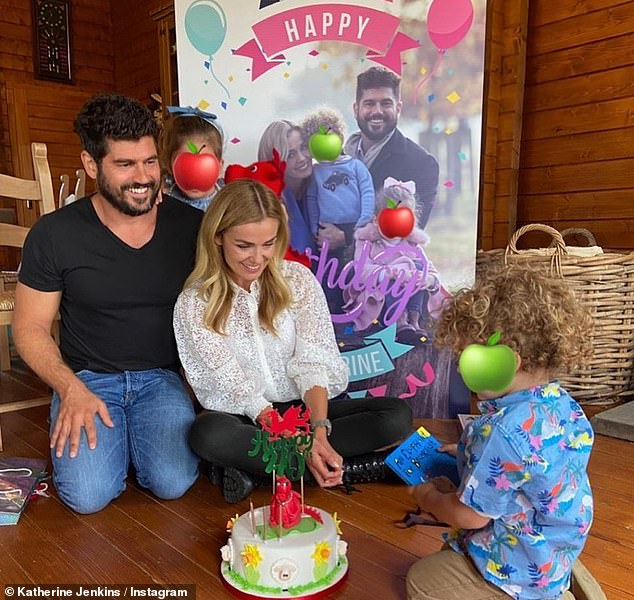 The greatest gift: 'Becoming a wife, I love being a mum, it's the best thing that's ever happened to me' (pictured with Andrew and their children Aaliyah and Xander)