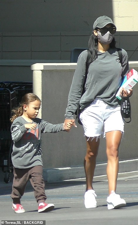 Heartache: On Thursday, it was revealed that one of the show's lead stars, Naya Rivera, who played Santana Lopez , was presumed dead after her son, four, was found alone in a pontoon boat on Lake Piru in California (Pictured: Naya and Josey, on Friday)