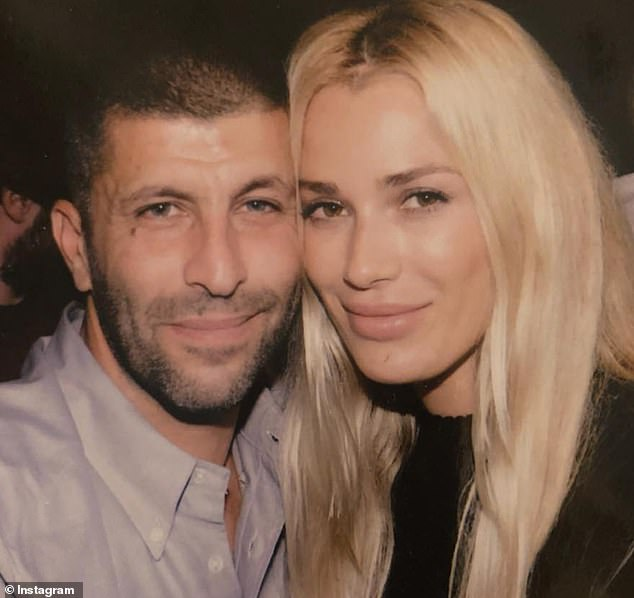 John Macris, 46, was gunned down outside his home in Athens in October 2018. Pictured with his former Playboy model wifeViktoria Karida