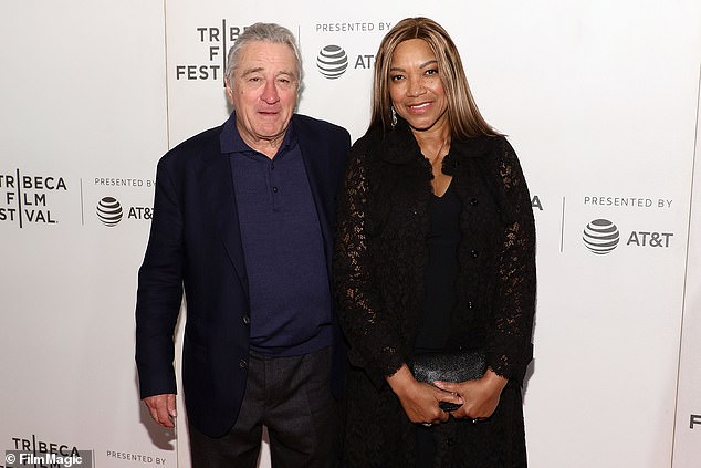 Robert De Niro and Grace Hightower, pictured in April 2018, seven months before they confirmed their separation after 21 years of marriage. The divorce battle is now being fought