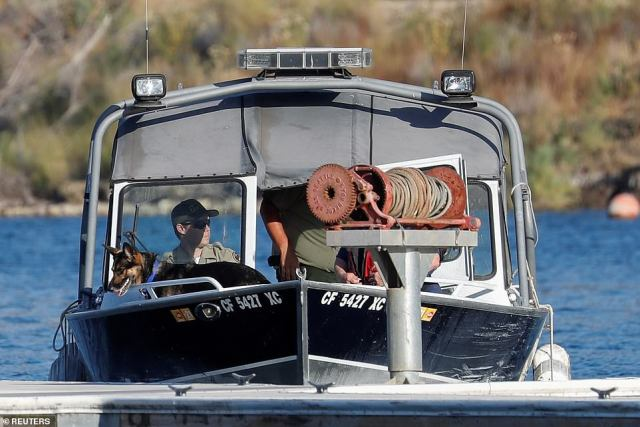 The dogs are trained to detect gasses that are released by human cadavers, performing a search along a grid of the lake and assisting divers in potentially locating the Rivera's body