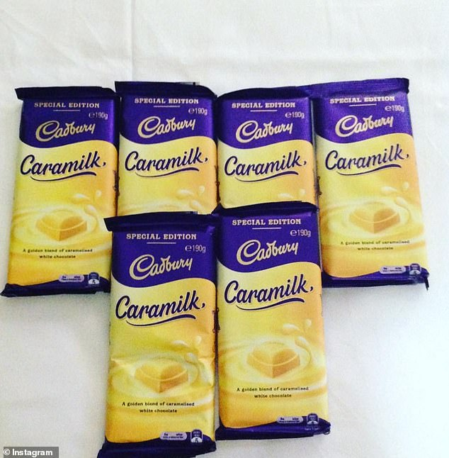 To make the cake, you'll need just 12 basic ingredients - including Cadbury Caramilk