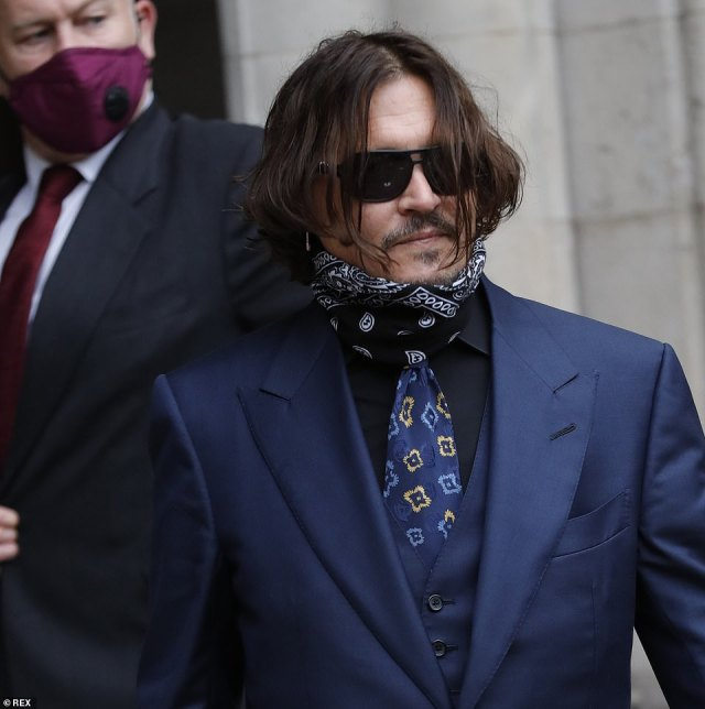Depp was on the stand at the High Court for a third day and was questioned about the incident after he previously claimed the injury was sustained when Heard threw a vodka bottle at him during the fight in Australia