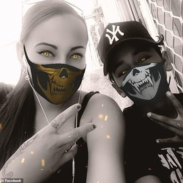 Hill pictured with son Lucius.Cayenne Nona, 14, Rayveena Coolwell, 15, and Aaliyah Tappa Brown, 17, also died in the crash in Townsville in June