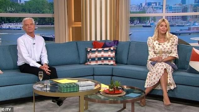 See you soon: the regular hosts of the program, Holly Willoughby and Phillip Schofield, are on a well-deserved two-month break (photo of the last show before their summer vacation Friday)