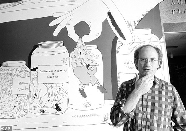 Gary Larson, pictured above in 1985, said that he rediscovered a love of drawing cartoons when a clogged pen drove him to take up digital tools and  discover a new method