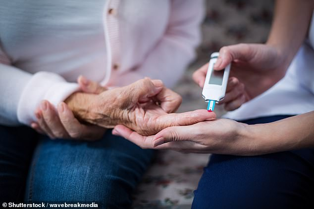A link has also been shown between diabetes and a greater risk of death from Covid-19, according to the Huazhong University of Science and Technology team. They recommend hospitals introduce blood glucose level screening (above, stock image) when patients are admitted with coronavirus symptoms