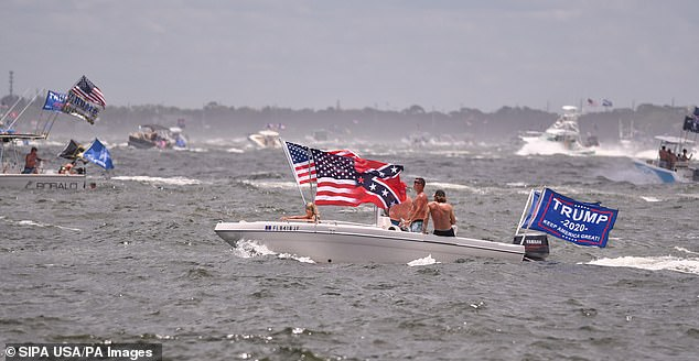 An enormous fleet of watercraft joined Saturday's President Donald Trump boat parade in the Indian and Banana Rivers across Brevard County in June