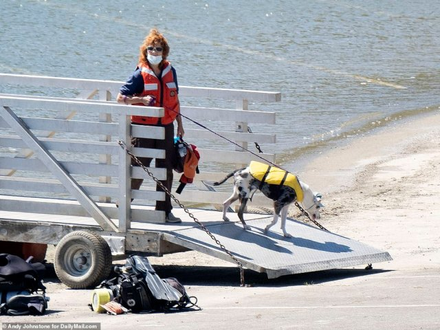 Police are using sonar, underwater robots, a chopper and even sniffer dogs on boats searching for the body of the Glee star