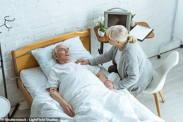 Even when the patient is unconscious and close to death, they still have their sense of hearing and can hear what their loved ones are saying to them (file photo)