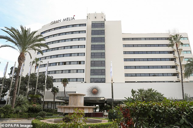 A British man had died after he fell from the seventh-floor of the Melia Don Pepe Hotel in Marbella this morning. The Spanish man also died