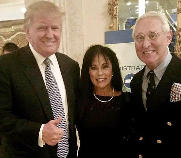 Trump and Stone have been friends for 40 year.s The pair are pictured with Nydia Stone in this undated file photo