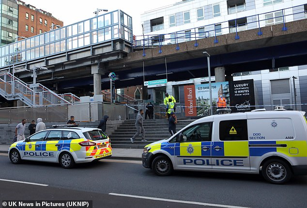 Despite emergency services carrying out first aid the man was pronounced dead at the scene in Poplar on Friday