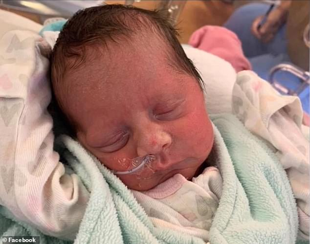Baby Andrea was born by emergency C-section 10 weeks prematurely but is healthy