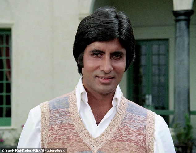 Icon: The Indian star rose to fame in the 1970s with films like Zanjeer and Sholay, and has been lovingly called the 'Star of the Millennium' by fans (pictured in 1976 film Kabhi Kabhie)