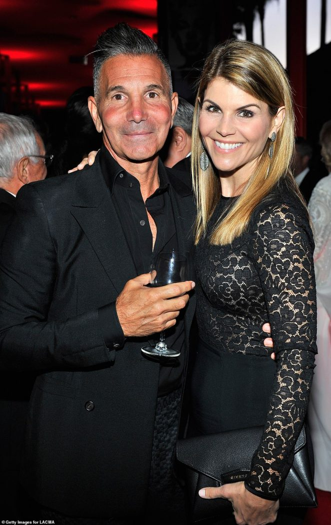 Making money: Lori Loughlin and husband Mossimo Giannulli have sold their multi-million dollar Bel-Air mansion, which they previously used as collateral to cover their $2 million bail for fraud charges (seen in 2015)