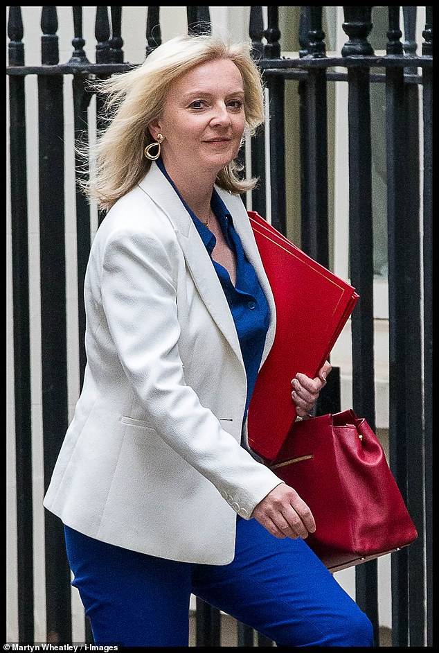 Friends of Ms Truss (pictured) are feeling particularly pessimistic about her career prospects after she was called in to No 10 on Thursday morning for what one source described as 'a total b******ing' by Mr Cummings