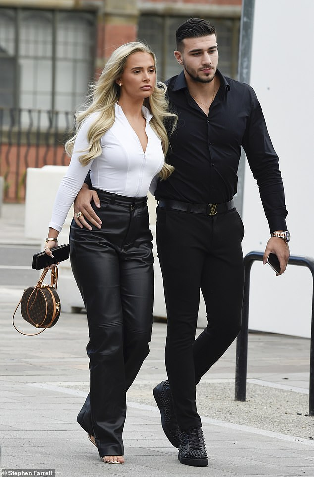 Why so serious?Molly-Mae Hague and Tommy Fury, both 21, put on a sombre display, as they stepped out for dinner at Menagerie in Manchester's Spitalfields,on Saturday