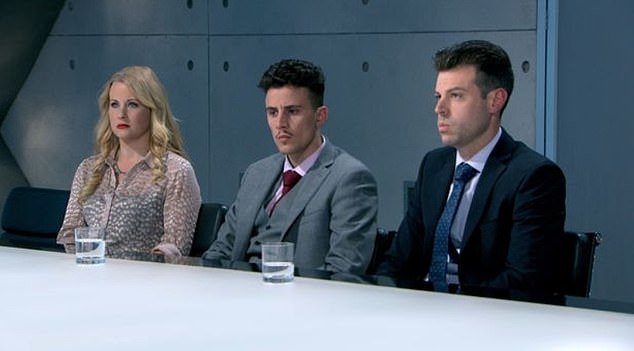 The Italian entrepreneur (pictured middle) received £250,000 for winning The Apprentice to set up his plumbing firm