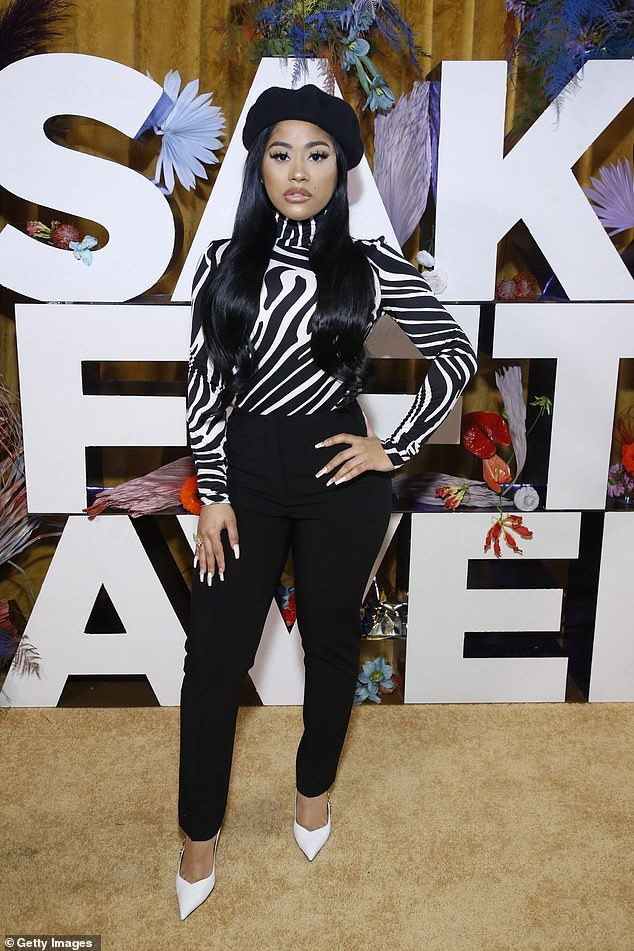 Spitting image: Hennessy Carolina, Cardi's younger sister, seen this in February in New York City
