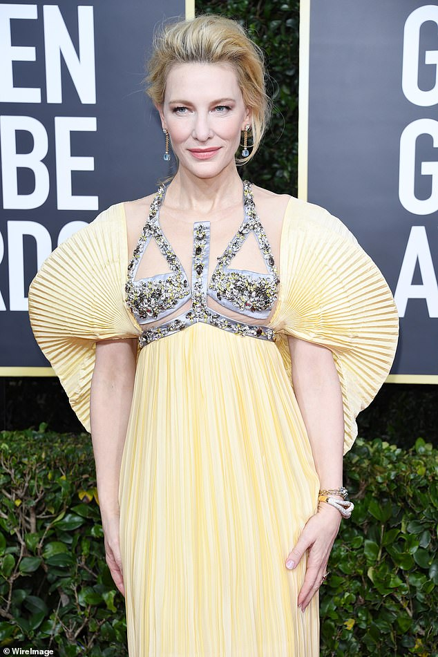 Major news! Cate Blanchett's production company Dirty Films has scored a first-look TV deal with FX Productions [The actress pictured at the Golden Globe Awards in January]