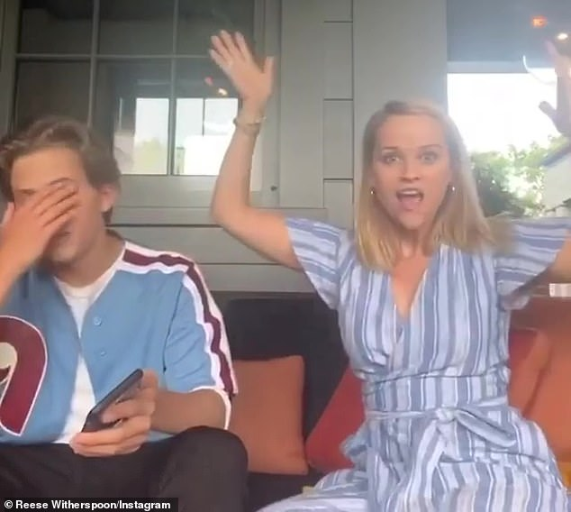 She's not a regular mom, she's a cool mom!Reese Witherspoon hilariously tried to embarrass her son Deacon Phillippe, 16, on Saturday by coming with the idea to make a TikTok dance video to his new single, Long Run