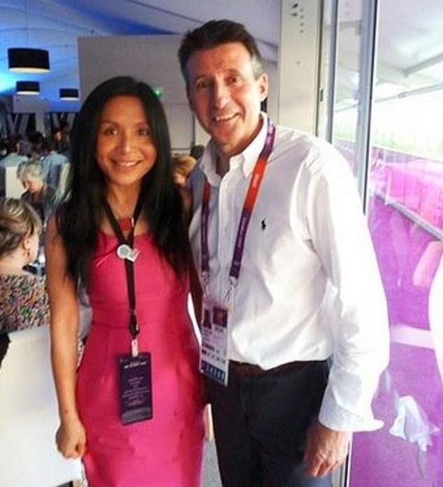 Running mate:Li Xuelin with World Athletics president Lord Coe