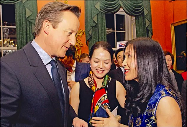 Friends in high places:With former Prime Minister David Cameron