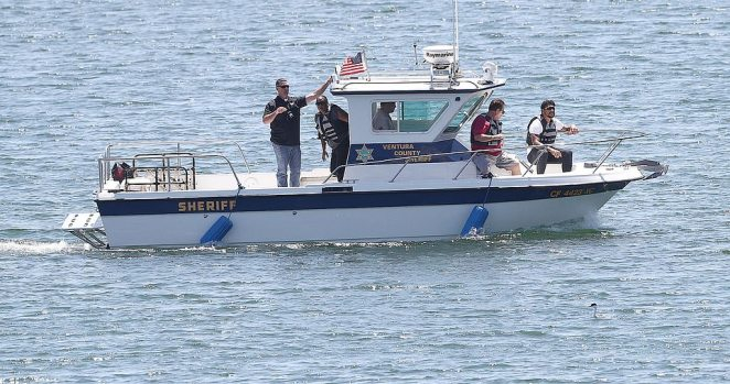 Searchers from the Ventura County Sheriff's Department were seen out on the waters looking for signs of the actress