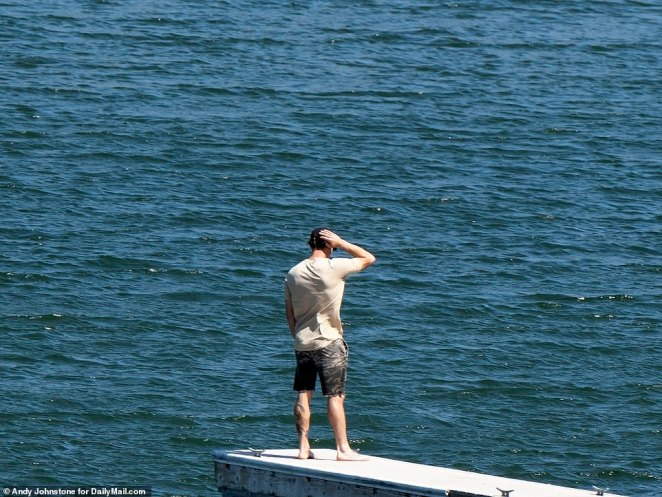 Ryan Dorsey took a moment to collect his thoughts and could be seen standing on the jetty at the edge of the lake