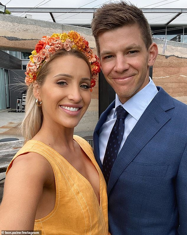Paine (pictured with wife Bonnie) wants his story to encourage other men to open up about their emotions