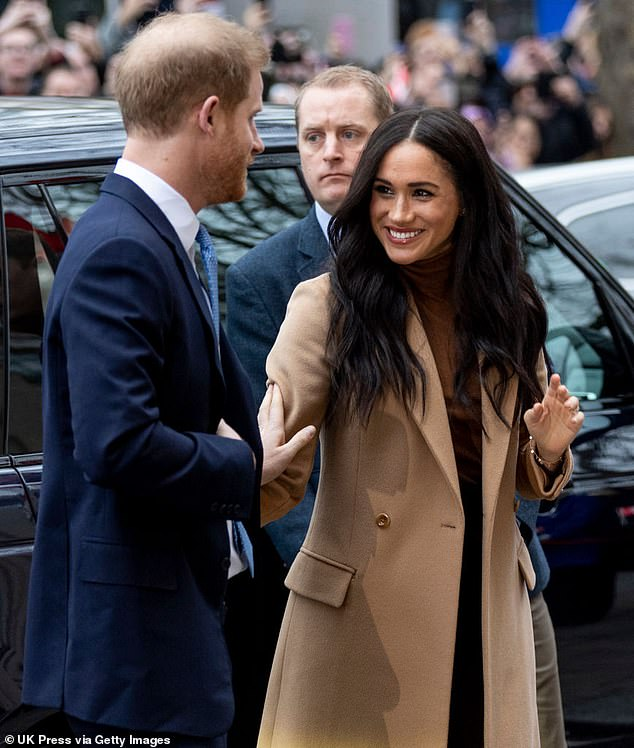 The Duke and Duchess of Sussex, pictured in London this year, decided to step back as senior royals in January, originally planning to split their time between the US and UK