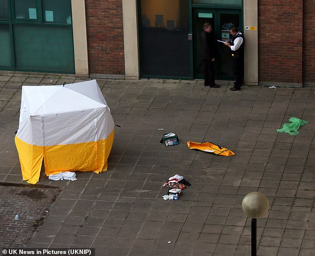Police cordoned off an area close to Crossharbour DLR station on Friday to investigate the fatal stabbing