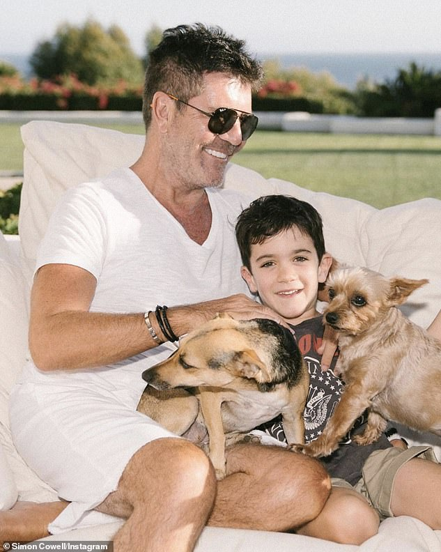 Pride and joy: Simon and Lauren are the parents of their adorable six-year-old son Eric